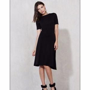 Reformation Dress Black Midi Eco Friendly XS
